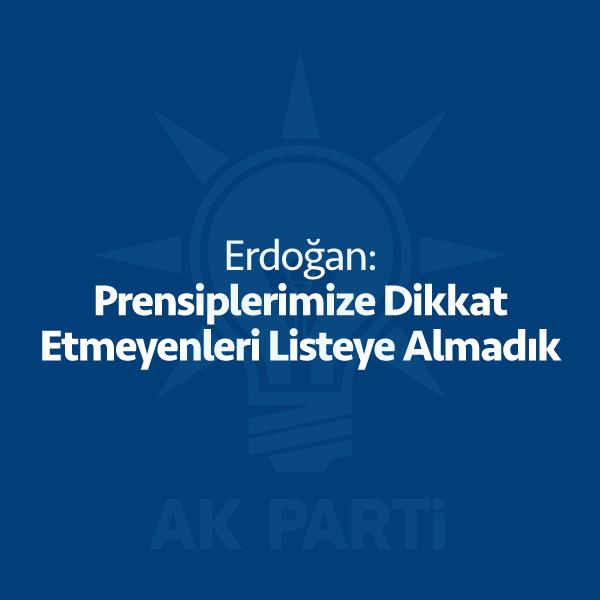 """Cumhurbaşkanı Recep Tayyip Erdoğan aday listesi ile ilgili çok çarpıcı bir açıklamada bulundu. Erdoğan """"Prensiplerimize dikkat etmemiş arkadaşlarımızı listelere koymadık"""" dedi. Cumhurbaşkanı Recep Tayyip Erdoğan aday listesi ile ilgili açıklama yaparken milletvekili aday listesini oluştururken dikkat ettikleri kriterlere değindi. Erdoğan, """"Ehliyet, liyakat önemli. Parlamento'daki prensiplerimize dikkat etmemiş, devamda hassasiyet göstermemiş arkadaşlarımızı listelere koymadık, koymuyoruz."""" dedi. […]"""