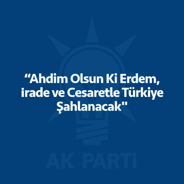 """Erdoğan , AK Parti İstanbul İl Kongresi 'nde kürsüye çıktı . """"Ahdim olsun ki """" diye söze başladı . 24 Haziran seçim manifestosunu açıklarken yeni Türkiye 'yi işte böyle anlattı… TÜRKİYE muasır medeniyet seviyesinin üstüne çıkacak. Küresel güç olacak. ATATÜRK'ÜN dediği gibi Türkiye Cumhuriyeti ilelebet payidar kalacak. GENÇLERE daha fazla alan açacağız. Yanlışları birlikte tespit […]"""