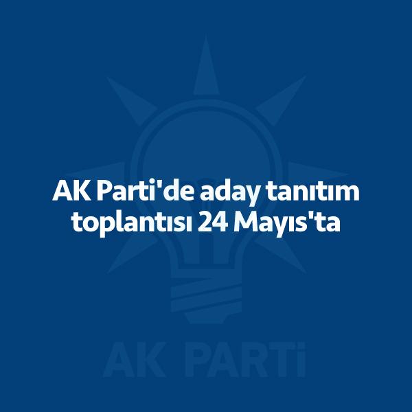 AK Parti'de 24 Haziran için aday tanıtım toplantısı 24 Mayıs Perşembe günü gerçekleştirilecek. AK Parti Genel Merkezi'nden yapılan açıklamaya göre, daha önce 25 Mayıs Cuma olarak duyurulan milletvekili aday tanıtım toplantısının tarihi 24 Mayıs Perşembe olarak güncellendi. Cumhurbaşkanı ve AK Parti Genel Başkanı Recep Tayyip Erdoğan başkanlığında oluşturulanüst komisyonun çalışmaları sonucu belirlenecek aday listesinin 21 […]
