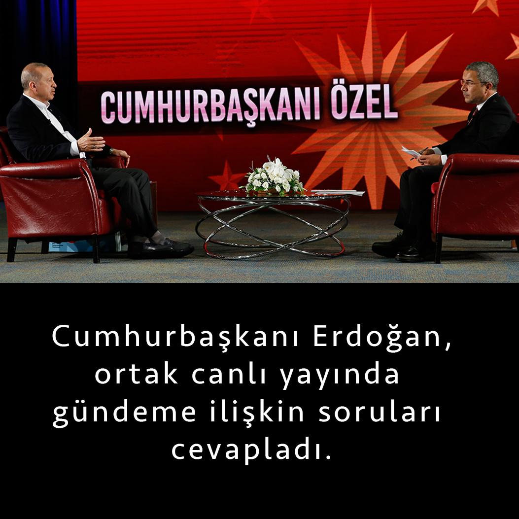 Cumhurbaşkanı Recep Tayyip Erdoğan, Habertürk, Show ve Bloomberg HT'nin ortak canlı yayınında, Veyis Ateş'in gündeme ilişkin soruları cevapladı. Hem oruç, hem de gecekondularda misafir olması gibi yoğun programlarına ilişkin soruyaErdoğan, bu programlara yabancı olmadığını belirterek,geçmişten bu yana yaşadıklarının, bu defa ramazan ayına denk geldiğini, havaların da güzel gittiğini, şu ana kadar bütün programlarda bugün tek, […]